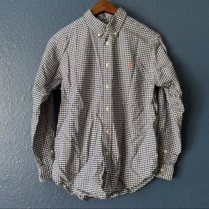Ralph Lauren Blue Gingham Button Down Shirt YL